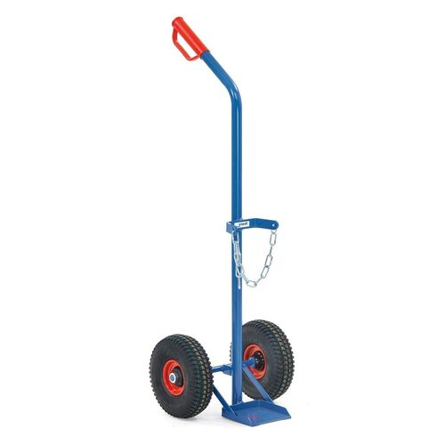 Gasflessenwagen 100 kg voor 1 gasfles a 10 liter met rubberbanden