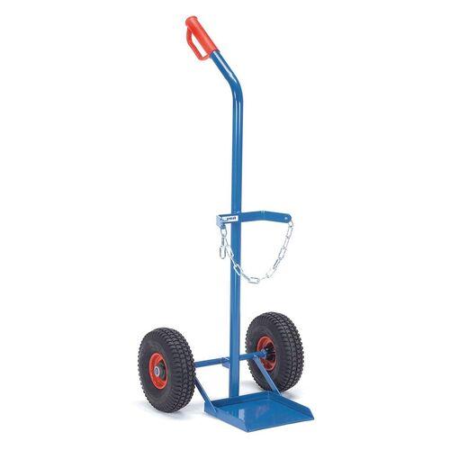 Gasflessenwagen 100 kg voor 1 gasfles a 20,40 of 50 liter met luchtbanden