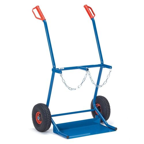 Gasflessenwagen 100 kg voor 2 gasflessen a 20 liter met luchtbanden