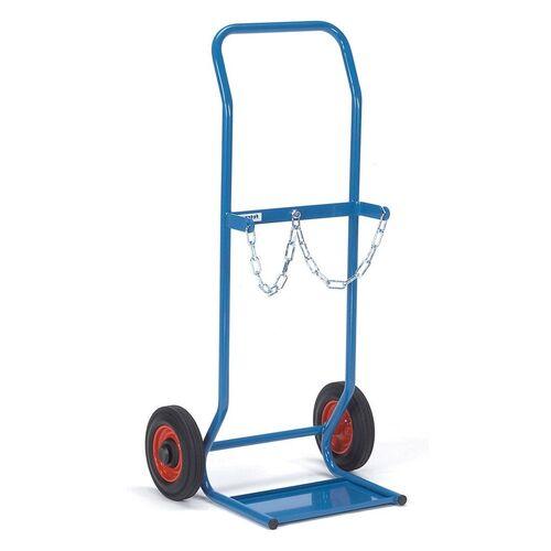 Gasflessenwagen 50 kg voor 2 gasflessen a 10 liter met rubberbanden