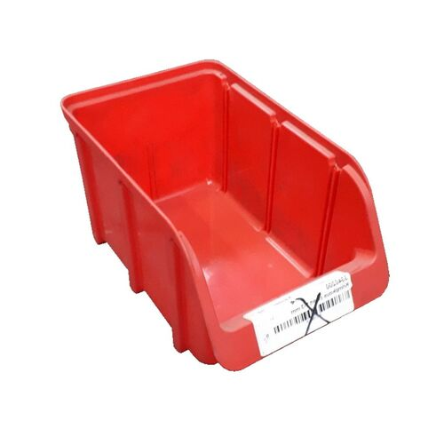 Gebruikte kunststof stapelbak 250x145x125 rood