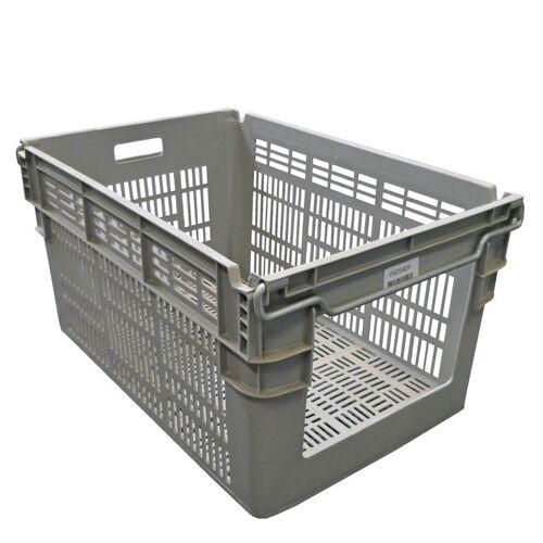 Gebruikte magazijnbak stapelbaar, nestbaar 600x400x310 grijs