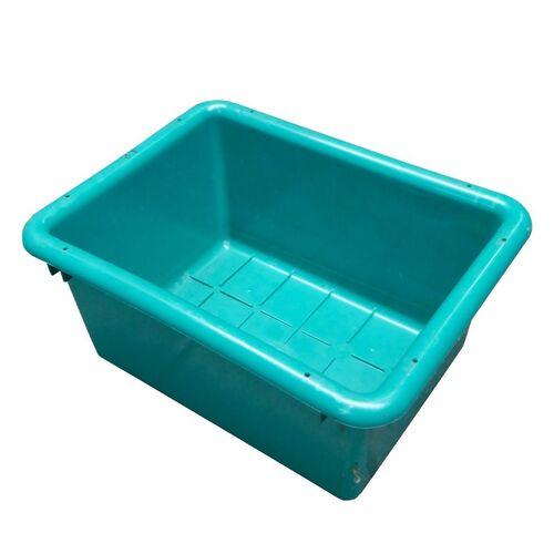 Gebruikte nestbare kunststof, transportkrat 450x350x240mm (lxbxh) groen