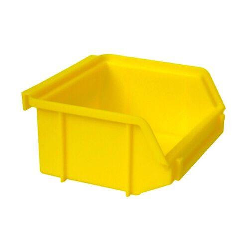 Kunststof stapelbak, Plastic magazijnbak A1 100x100x50 geel