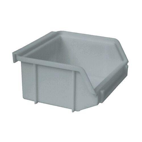 Kunststof stapelbak, Plastic magazijnbak A1 100x100x50 grijs