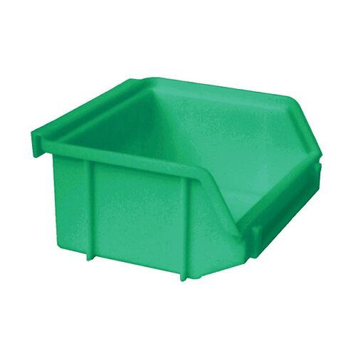 Kunststof stapelbak, Plastic magazijnbak A1 100x100x50 groen