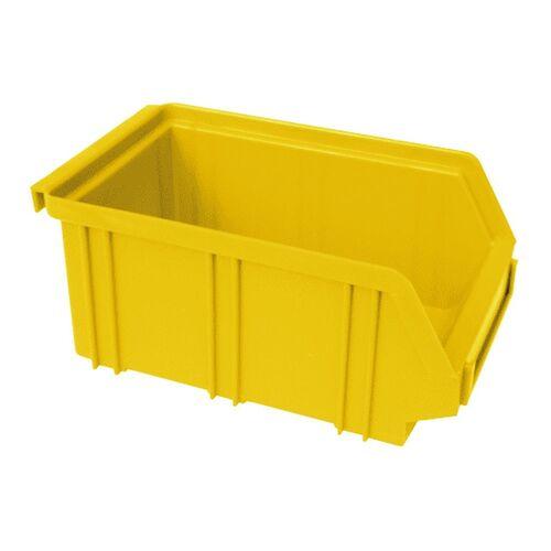Kunststof stapelbak, Plastic magazijnbak A2 170x105x75 geel