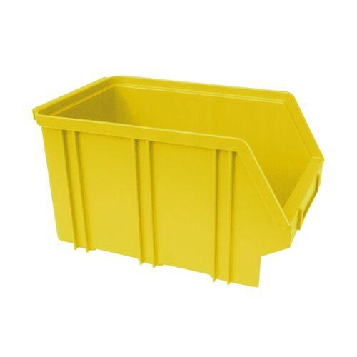 Kunststof stapelbak, Plastic magazijnbak A3 240x150x135 geel