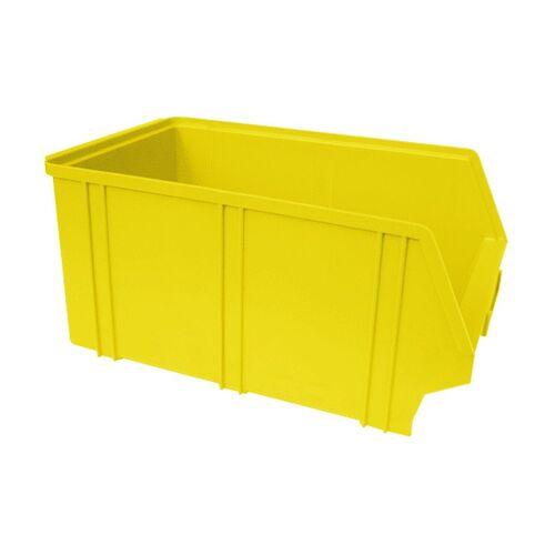 Kunststof stapelbak, Plastic magazijnbak A4 350x210x160 geel