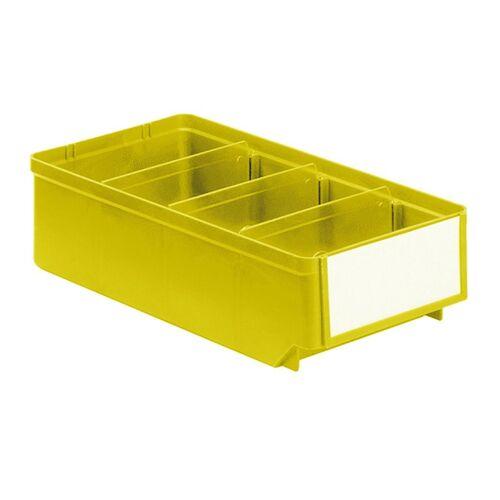 Magazijnbak, Magazijnstellingbak, Kunststof bak RK 300x152x83 geel