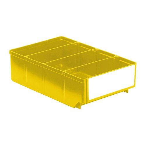 Magazijnbak, Magazijnstellingbak, Kunststof bak RK 300x186x83 geel