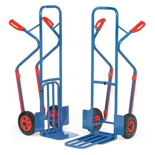 Inklapbare steekwagen 300 kg 1300 mm met rubberbanden en glijstrips