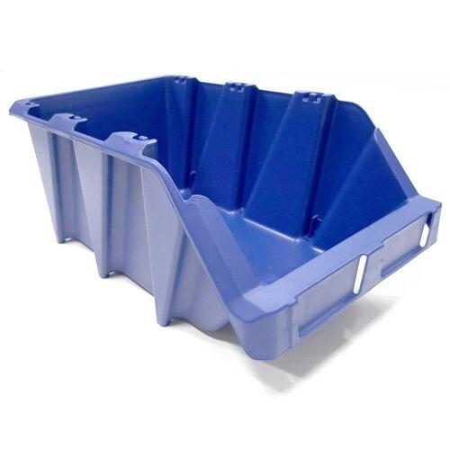 Palletaanbieding 100 stapelbare en nestbare kunststof magazijnbakken type S7, 490x310x195 blauw