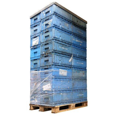 Palletaanbieding 32 gebruikte magazijnbak SSI Schaefer KLT 6428 600x400x280 blauw