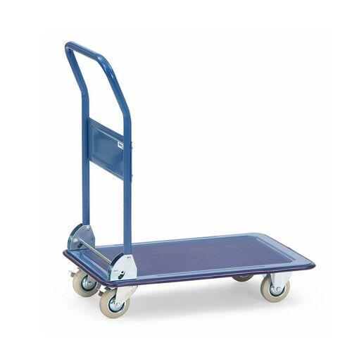 Platformwagen, transportwagen 150 kg van staal met inklapbare duwbeugel 740x480