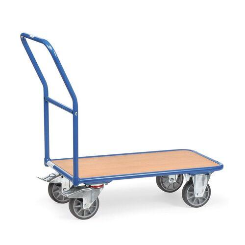 Plateauwagen, platformwagen, transportkar 400 kg met duwbeugel 850x500