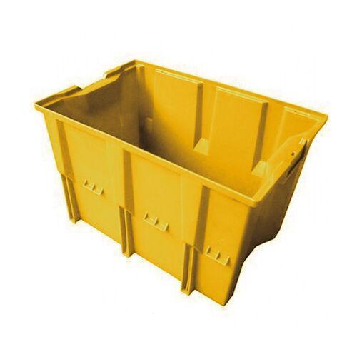 Stapelbare, nestbare transportkrat DLK1 480x312x300 geel