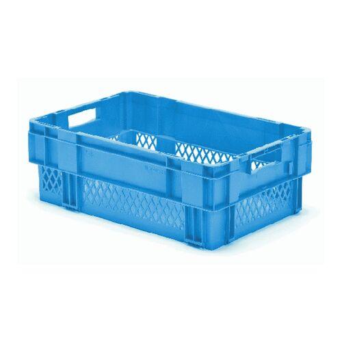 Stapelbare, nestbare transportkrat DTK1 600x400x210 blauw