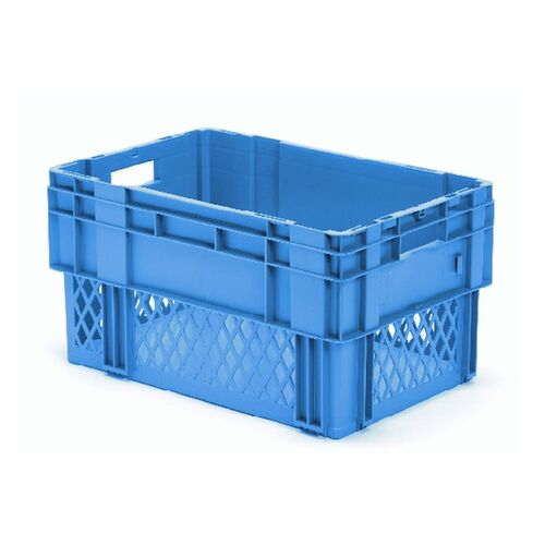 Stapelbare, nestbare transportkrat DTK1 600x400x320 blauw