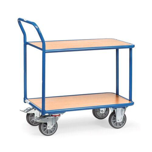 Tafelwagen 400 kg met 2 houten etages 850x500