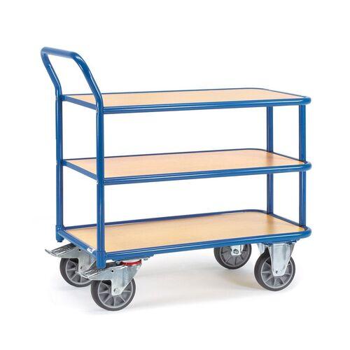 Tafelwagen 400 kg met 3 houten etages 850x500