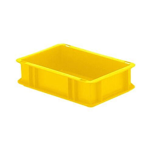 Transportkrat Euronorm plastic bak, krat TK0 300x200x75 geel