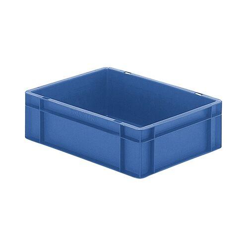 Transportkrat Euronorm plastic bak, krat TK0 400x300x120 blauw