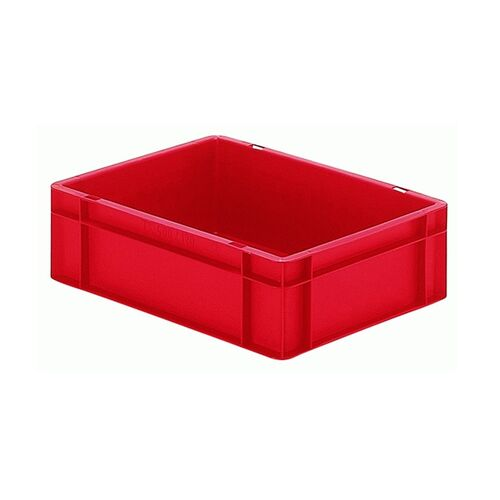 Transportkrat Euronorm plastic bak, krat TK0 400x300x120 rood