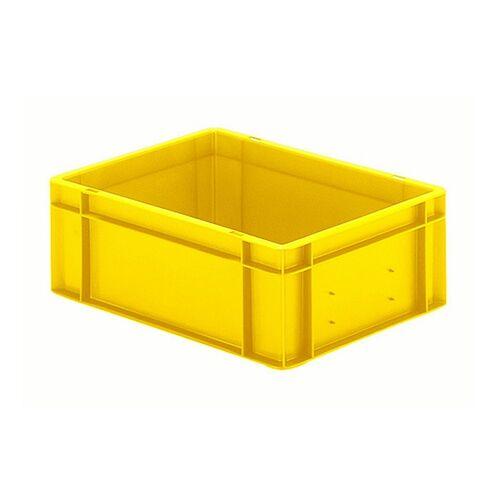 Transportkrat Euronorm plastic bak, krat TK0 400x300x145 geel
