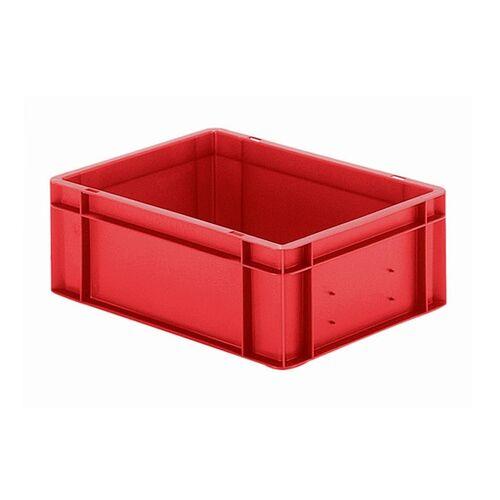 Transportkrat Euronorm plastic bak, krat TK0 400x300x145 rood