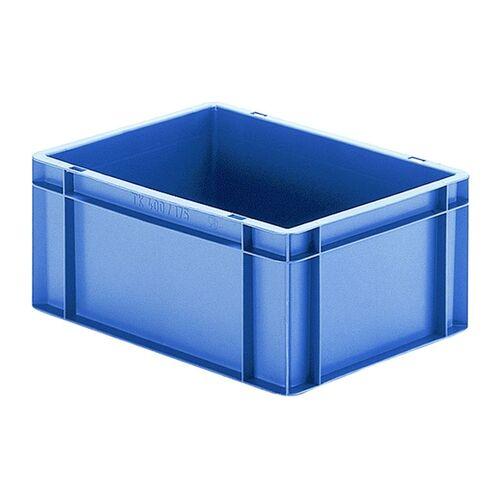 Transportkrat Euronorm plastic bak, krat TK0 400x300x175 blauw