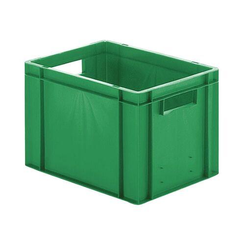 Transportkrat Euronorm plastic bak, krat TK0 400x300x270 groen