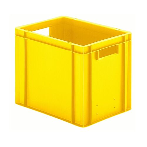 Transportkrat Euronorm plastic bak, krat TK0 400x300x320 geel