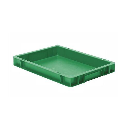 Transportkrat Euronorm plastic bak, krat TK0 400x300x50 groen