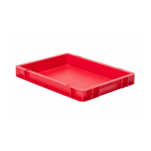Transportkrat Euronorm plastic bak, krat TK0 400x300x50 rood