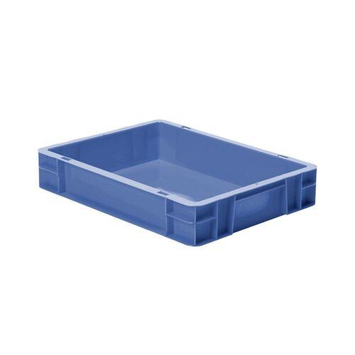 Transportkrat Euronorm plastic bak, krat TK0 400x300x75 blauw