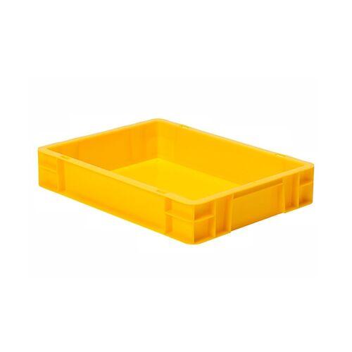 Transportkrat Euronorm plastic bak, krat TK0 400x300x75 geel