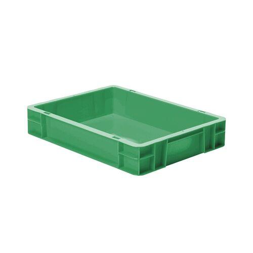 Transportkrat Euronorm plastic bak, krat TK0 400x300x75 groen