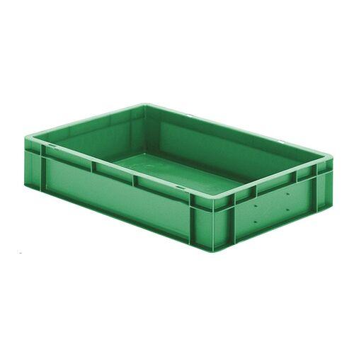 Transportkrat Euronorm plastic bak, krat TK0 600x400x120 groen