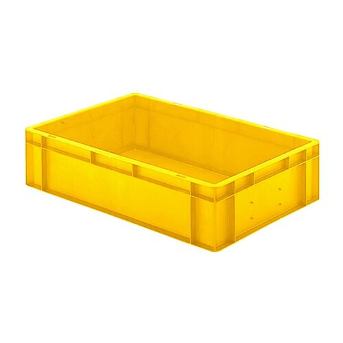 Transportkrat Euronorm plastic bak, krat TK0 600x400x145 geel