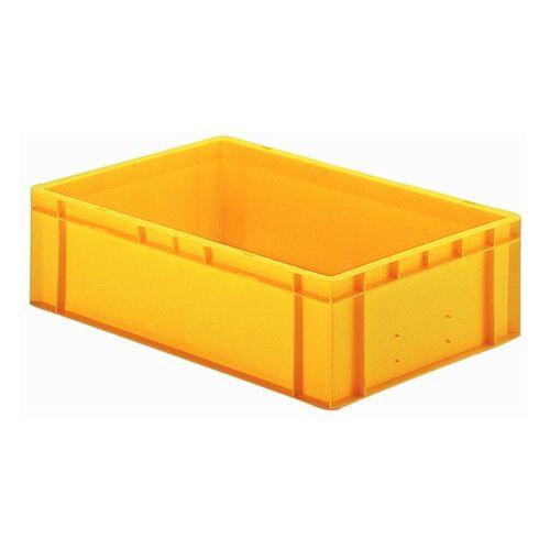 Transportkrat Euronorm plastic bak, krat TK0 600x400x175 geel