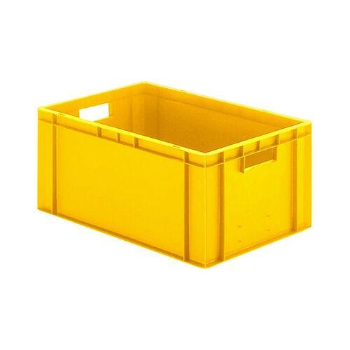 Transportkrat Euronorm plastic bak, krat TK0 600x400x270 geel