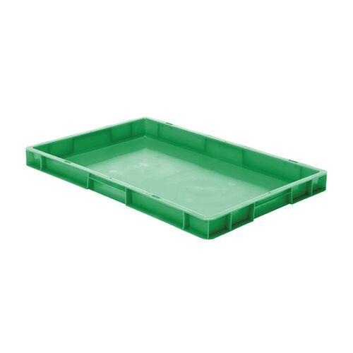 Transportkrat Euronorm plastic bak, krat TK0 600x400x50 groen
