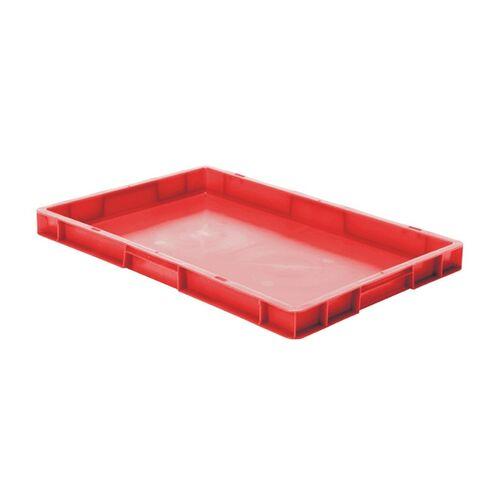 Transportkrat Euronorm plastic bak, krat TK0 600x400x50 rood