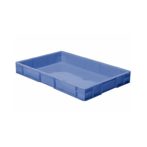 Transportkrat Euronorm plastic bak, krat TK0 600x400x75 blauw