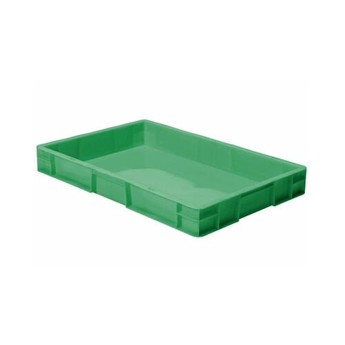 Transportkrat Euronorm plastic bak, krat TK0 600x400x75 groen