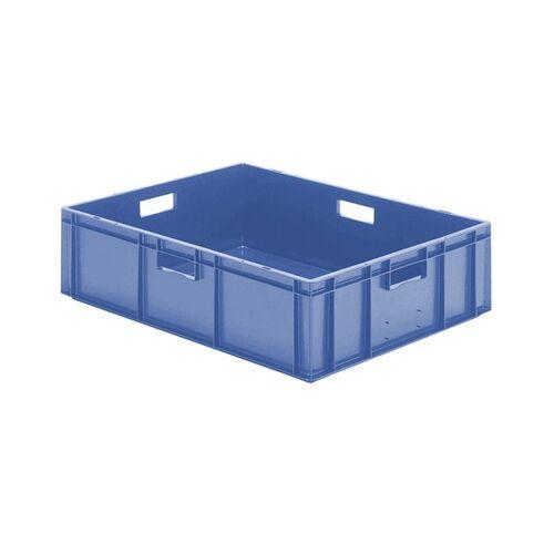 Transportkrat Euronorm plastic bak, krat TK0 800x600x210 blauw