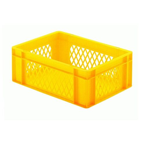 Transportkrat Euronorm plastic bak, krat TK1 400x300x145 geel
