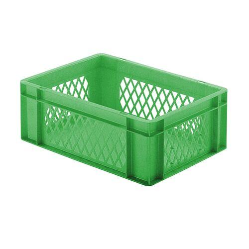 Transportkrat Euronorm plastic bak, krat TK1 400x300x145 groen