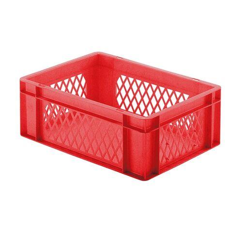 Transportkrat Euronorm plastic bak, krat TK1 400x300x145 rood